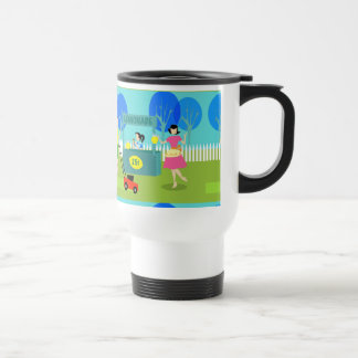 Retro Children's Lemonade Stand Travel Mug