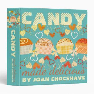 Retro chocolate candy cookbook recipe binder