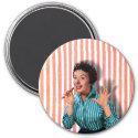 Retro Chocolate Lady Graphic Magnet