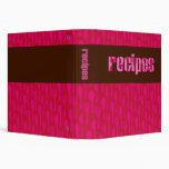 Retro Chocored Recipes Binder