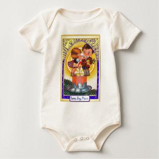 Retro Christmas Baby Bodysuit