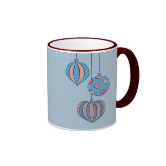Retro Christmas Balls blue Mug