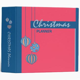 Retro Christmas Balls red Planner Binder