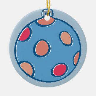 Retro Christmas Balls round blue Tree Ornament