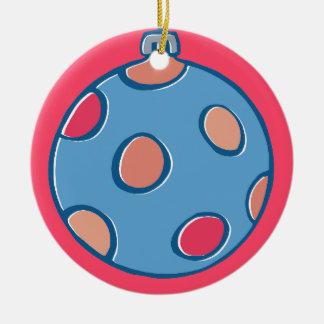 Retro Christmas Balls round red Tree Ornament