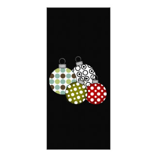 Retro Christmas Balls T-shirts and Gifts Rack Cards