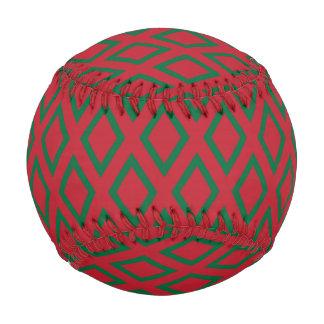 Retro Christmas Diamond Pattern Baseball