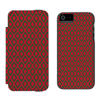 Retro Christmas Diamond Pattern iPhone SE/5/5s Wallet Case