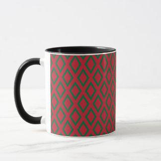 Retro Christmas Diamond Pattern Mug