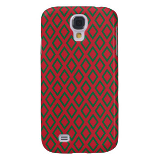 Retro Christmas Diamond Pattern Samsung Galaxy S4 Cover