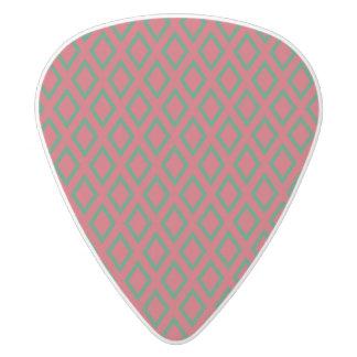 Retro Christmas Diamond Pattern White Delrin Guitar Pick