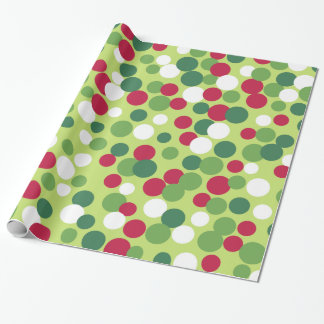 Retro Christmas Dots Wrapping Paper