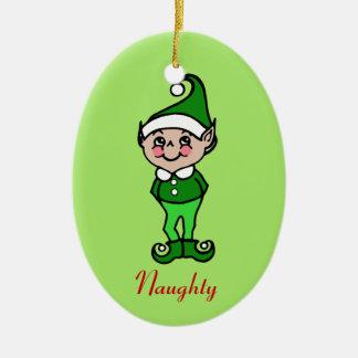 Retro Christmas Elf Ornament