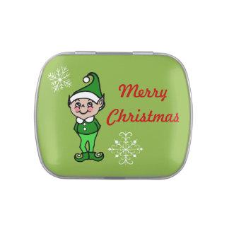 Retro Christmas Elf Tin
