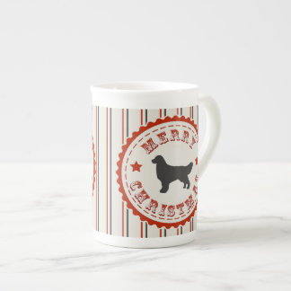 Retro Christmas Golden Retriever Tea Cup