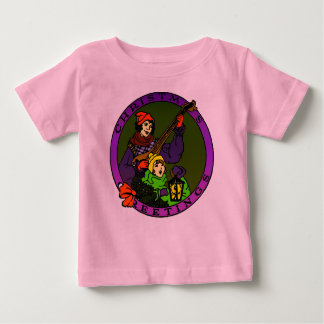 Retro Christmas greetings, child and lute player Baby T-Shirt