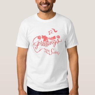 Retro Christmas Greetings T-shirt