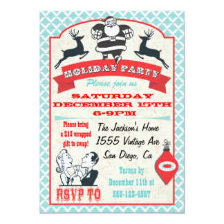 christmas cocktail party invitations  announcements  zazzle, Party invitations