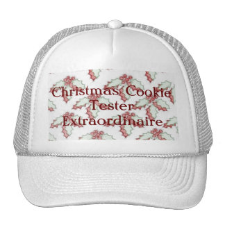 Retro Christmas Holly Red Green Grunge Trucker Hat