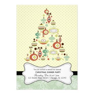 Retro Christmas Personalized Invites