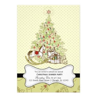 Retro Christmas Personalized Invite