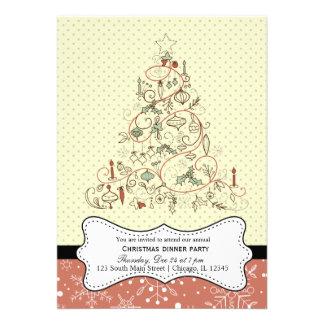 Retro Christmas Invites