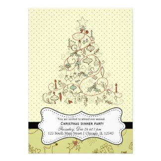 Retro Christmas Invitation