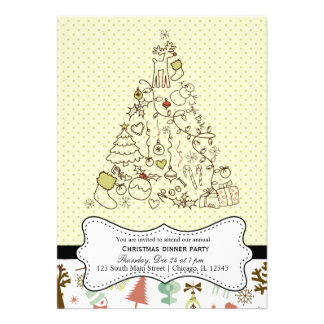 Retro Christmas Personalized Announcements