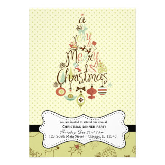 Retro Christmas Custom Invites