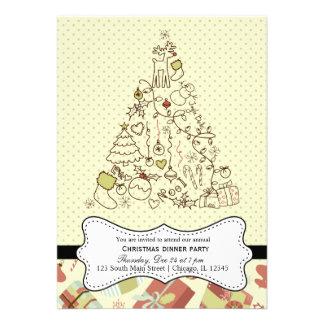 Retro Christmas Custom Invitations