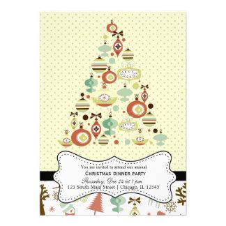 Retro Christmas Custom Invitation