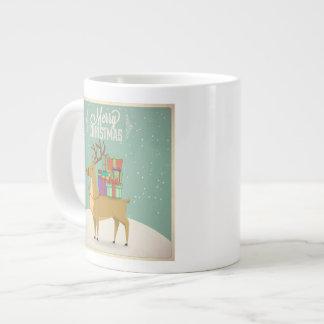 Retro Christmas Mug - Raindeer with Gifts