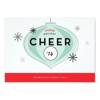Retro Christmas Ornament Holiday Photo Card