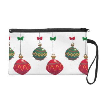Retro  Christmas Ornaments Wristlet Purse