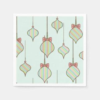 Retro Christmas Ornaments Napkins