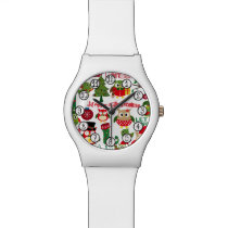 Retro Christmas Owl Pattern Watch