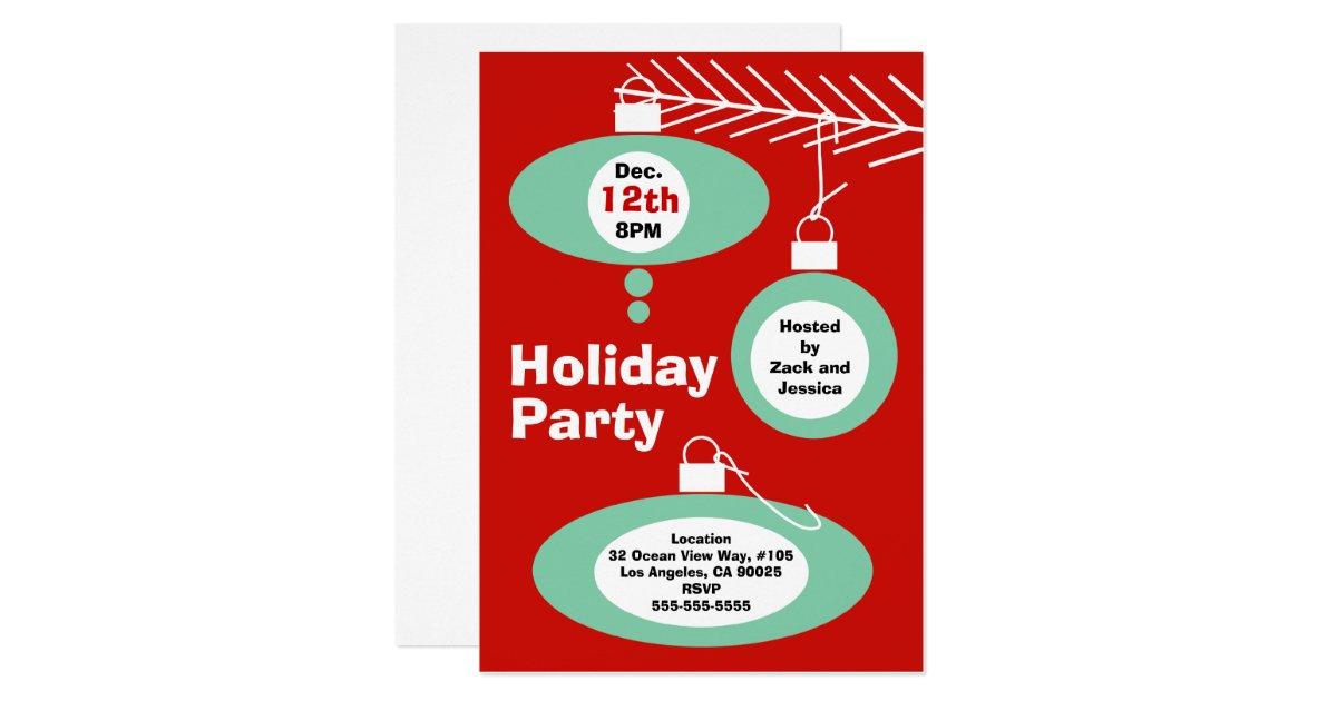 Retro Christmas Party Invitation | Zazzle.com