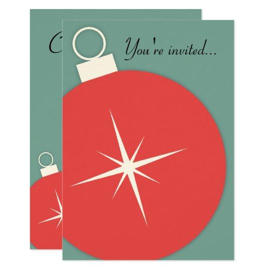 Retro Christmas Party Invitation