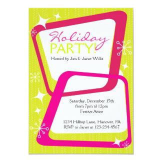 Retro Christmas Party Invitations