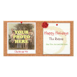 Retro Christmas Personalized Photo Card