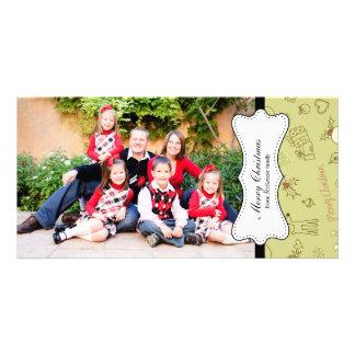 Retro Christmas Personalized Photo Card