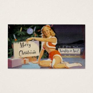 Retro Christmas Pin Up Gift Tag