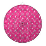 Retro Christmas Pink Snowflakes Pattern Dartboards