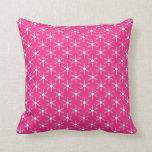 Retro Christmas Pink Snowflakes Pattern Pillows