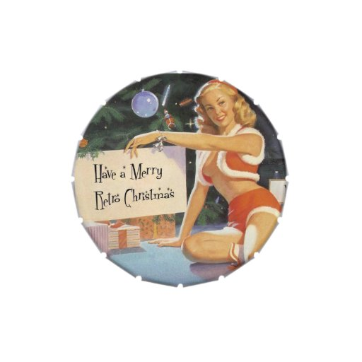 Retro Christmas Pinup Jelly Belly Tin