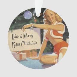 Retro Christmas Pinup Ornament