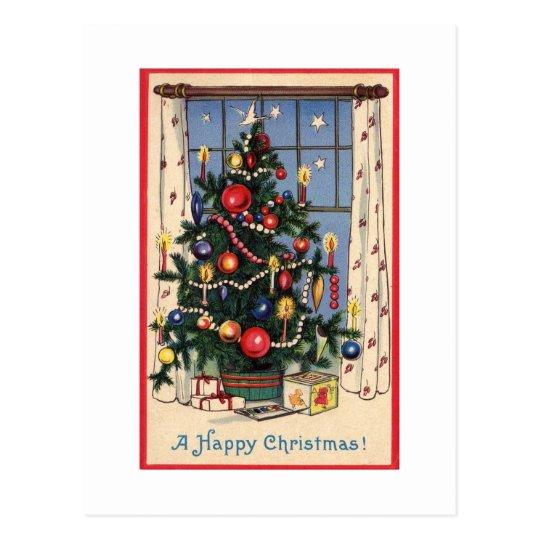 Retro Christmas Postcard