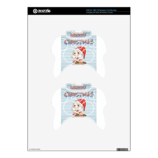 Retro christmas poster xbox 360 controller skins
