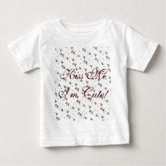 Retro Christmas Red Green Grunge Baby T-Shirt