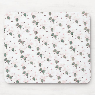 Retro Christmas Red Green Grunge Mouse Pad
